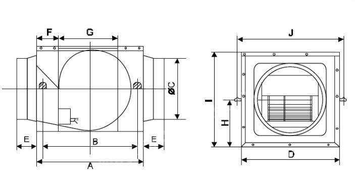 Quạt nối ống siêu âm Nedfon DPT10-23B